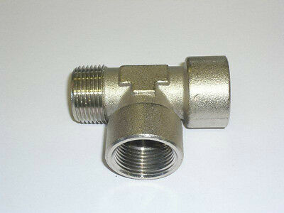 "Business & Industrial Special Section Fitting ""t"" Bsp Male-female-female 1/4"" Cod.46302 Compressed Air Strong Packing"