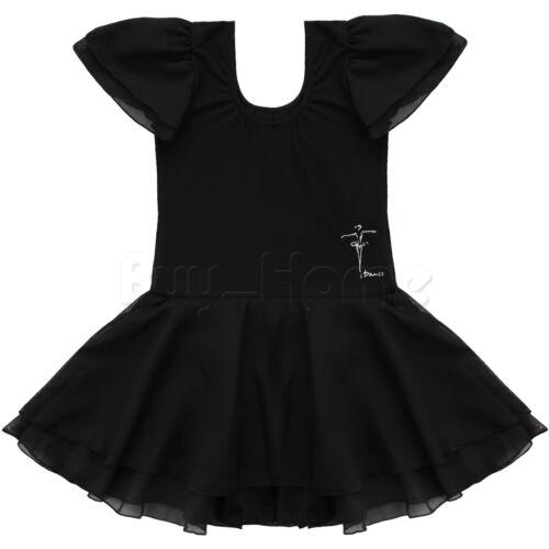 Baby Toddler Girls Ballet Leotard Dress Dancewear Gymnastics Skating Tutu Skirts