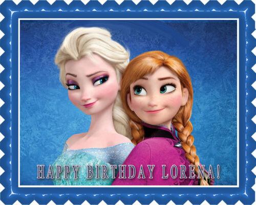 FROZEN Anna and Elsa Decor Edible Cake Topper OR Cupcake Topper
