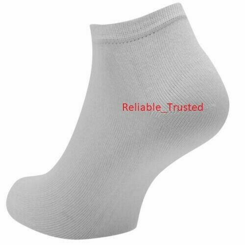 3//6//12 Pairs Girls Trainer Activity Sport Socks Invisible Ankle Cotton Footwear