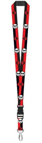 DC Comics Harley Quinn Black /& Red Lanyard ID Badge Holder