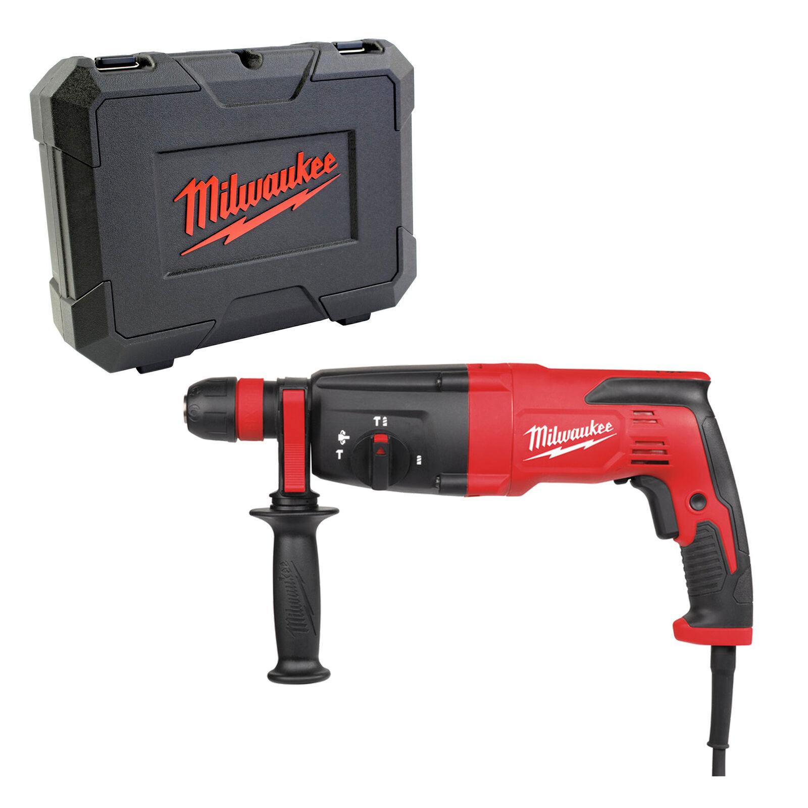 Milwaukee SDS-Plus Kombihammer Bohren Meisseln PH27X im Set im Handwerkerkoffer