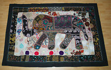 New Large Patchwork Wall Hanging - Hippy Fairly Traded Ethnic India Elephant