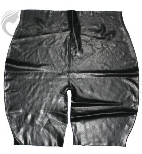 BLACK 100/% LATEX SHORTS RUBBER CYCLE PANTS MALE MENS PANTS KNEE LENGTH M L XL