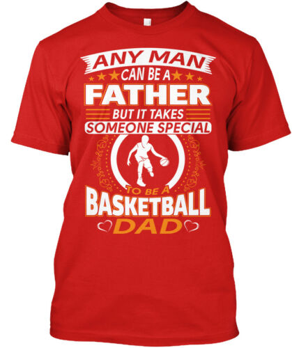 Printed Fathers Day T S For Basketball Dad Standard Standard Unisex T-shirt