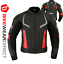 miniature 30 - Leather Motorbike Motorcycle Jacket With CE Armour Sports Racing Biker Thermal