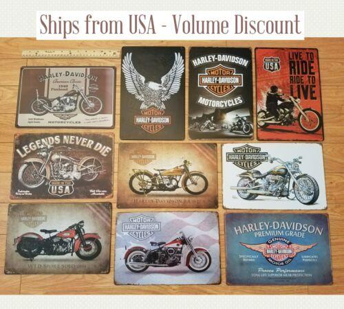 Harley Sign Metal Harley Davidson Sign Eagle Harley Motorcycle Sign Harley Tin