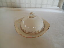 Radisson W.S. George cream w/gold tone domed butter dish w/insert