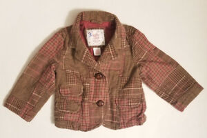 1eb1d43bb Baby Gap Toddler Girl s Long Sleeve Button Up Jacket Size 12-18 ...