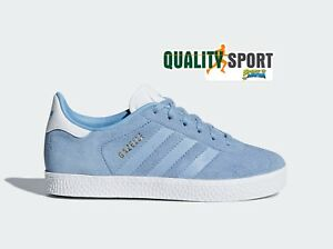 new concept ddb95 11d76 Image is loading Adidas-gazelle-C-Celeste-Shoes-Shoes-Child-Sports-