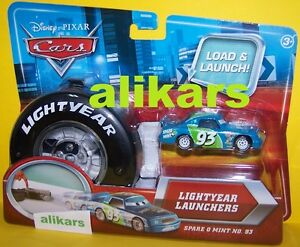 Lightyear-Launchers-SPARE-O-MINT-Starter-Piston-Cup-racer-93-Disney-Cars-toy