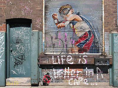 AUSTRALIA A0 POSTER ANDY BAKER STREET PRINT PAINTING  ART GRAFFITI