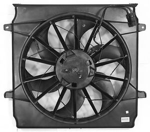 Dual-Radiator-and-Condenser-Fan-Assembly-APDI-6022109-fits-04-05-Jeep-Liberty