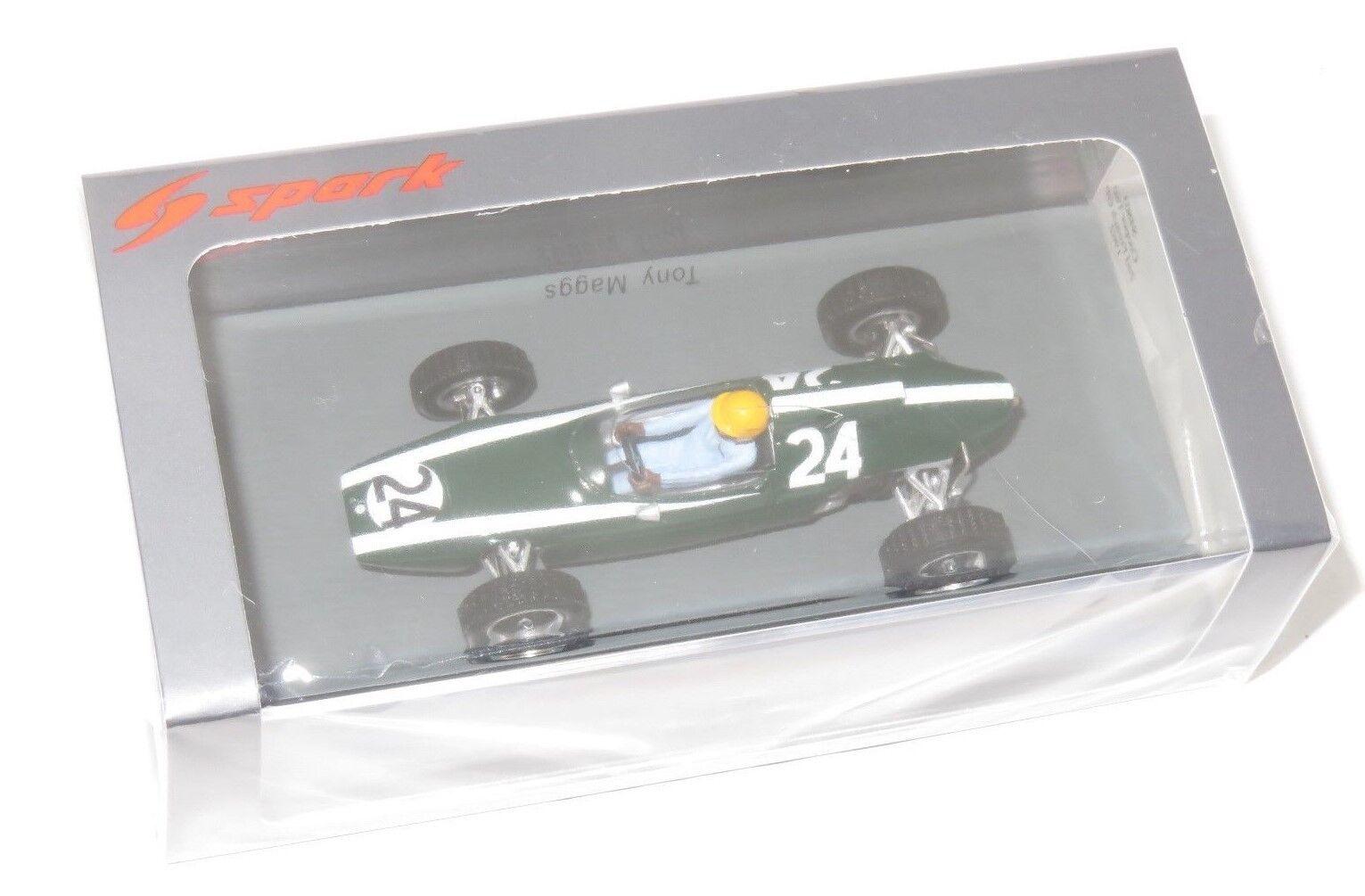 1 43 Spark Model  Cooper T60  French Grand Prix 1962   Tony Maggs