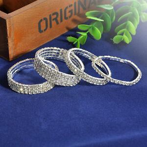Fashion-Women-Inlaid-Rhinestones-Multiple-Layers-Wedding-Bracelet-Jewelry