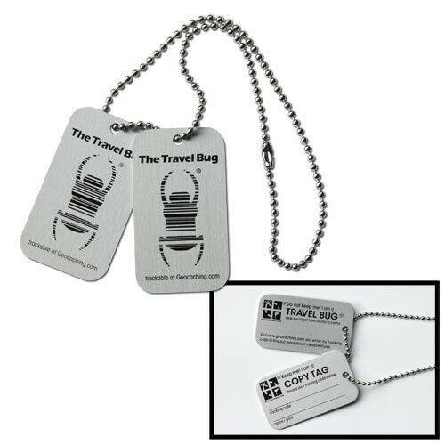 2er Pack Travelbug mit CopyTag Tb trackable standard origin 2 Stück Tbs