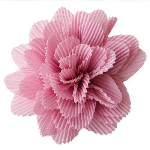 9cm Crinkle Fabric Hair Flowers Clips Bobbles Bridesmaid Wedding Dance Festival