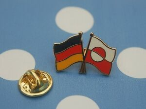 Freundschaftspin-Deutschland-Groenland-Pin-Button-Badge-Anstecker