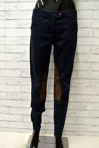 Pantalone-TRUSSARDI-JEANS-Donna-Taglia-44-Pants-Woman-Cotone-Blu-Slim-Skinny-Fit