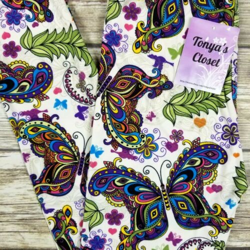 Kid Girls Toddler Leggings Mandala Butterfly Print Buttery Soft Size SMALL 4//6