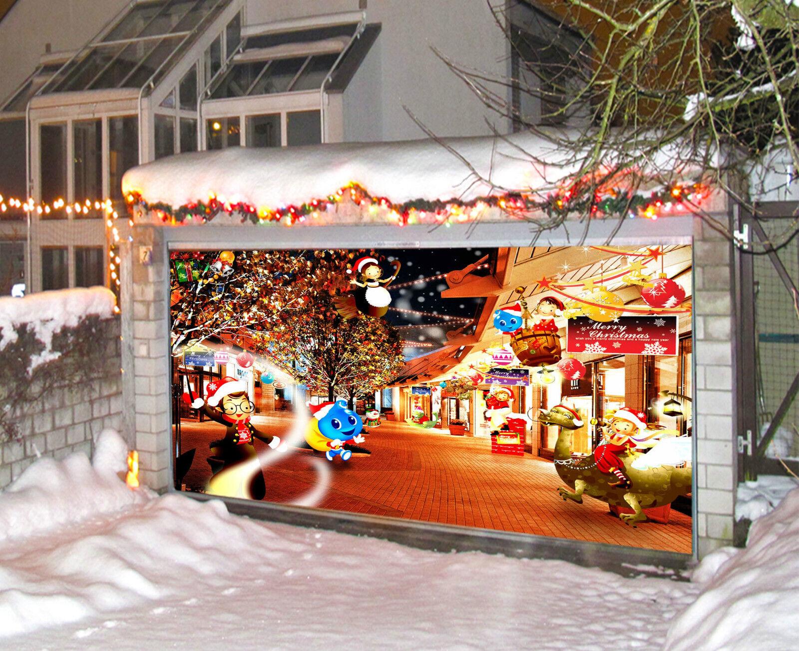 3D Joyeux Noël 971 Garage Porte Peint en Autocollant Murale AJ WALLPAPER FR