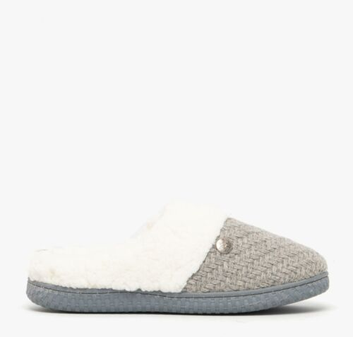 Dr Keller MAE Ladies Womens Warm Soft Textile Knitted Slip-On Mule Slippers