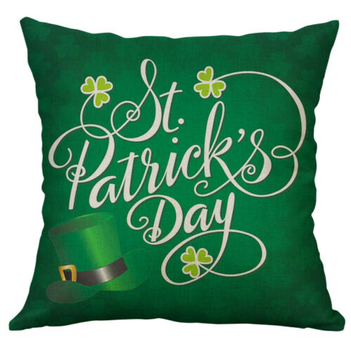 St Patrick/'s Day Cotton Linen Cushion Cover Throw Pillow Case Home Decor 18inch