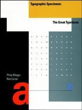 TYPOGRAPHIC SPECIMENS - PHILIP MEGGS (PAPERBACK) NEW