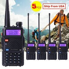 5 PCS BaoFeng UV-5R VHF&UHF Dual-Band Walkie Talkie FM ham 2 way 5R radio USA
