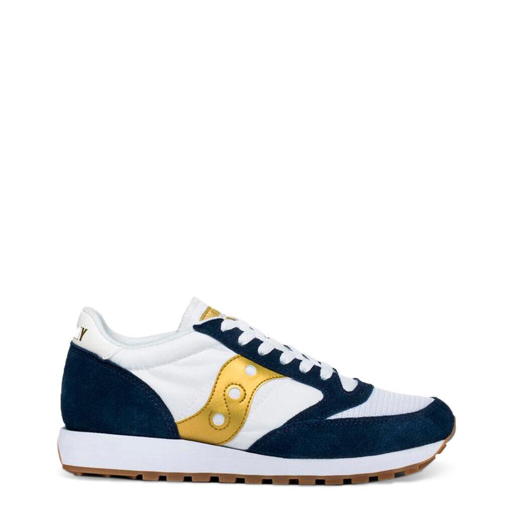 Schuhe Saucony Jazz _S60368_ 92 _ Weiß-Navy-Gold Weiß Blau Gold Frau Turnschuhe