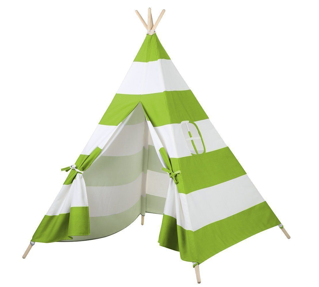 Holiday Gift GREEN 6ft Cotton Canvas Deluxe Teepee Playhouse Play Tent For Kids