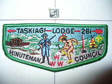OA Taskiagi Lodge 261,S-10,1970s,80s BRO Flap,GRN,52,195,Boston Minuteman Cnl,MA
