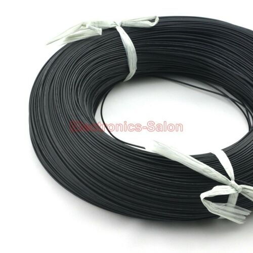 328FT Black UL-1007 22AWG Hook-up Wire 100m Cable 100M