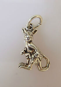 Sterling Silver 3-D Kangaroo Charm