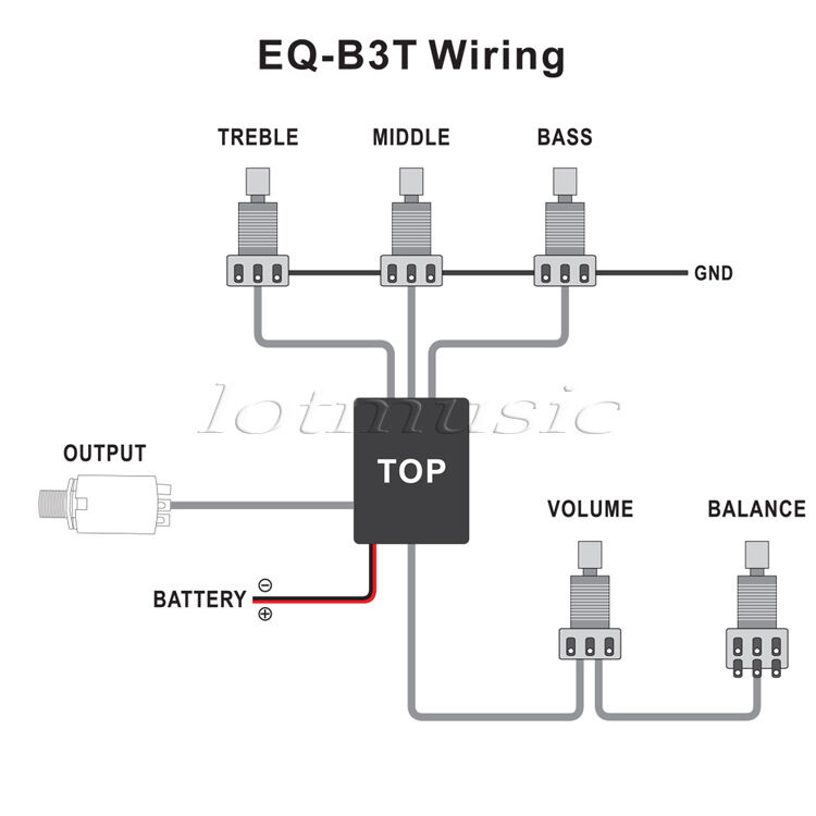 active guitar bass eq preamp circuit tone volume pots wiring harness rh ebay com car preamp wiring diagram aguilar preamp wiring diagram