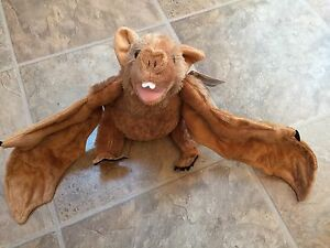 Brown Vampire Bat 9 Inch Tall 27inch Wingspan Plush Toy By Wild