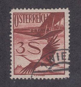 Austria-Sc-C29-used-1955-3s-Biplane-amp-Crane-F-VF