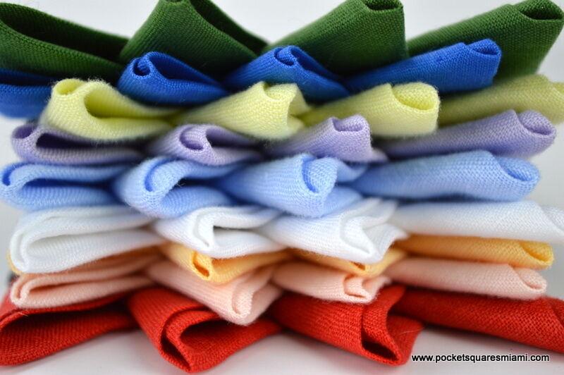 Mens Pocket Square Handkerchief Pre Folded Irish Linen Conquistador