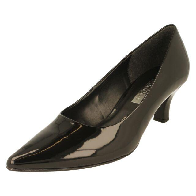 6a2b7624c530 Ladies Gabor Court Shoes Black Patent Synthetic 31.250.77