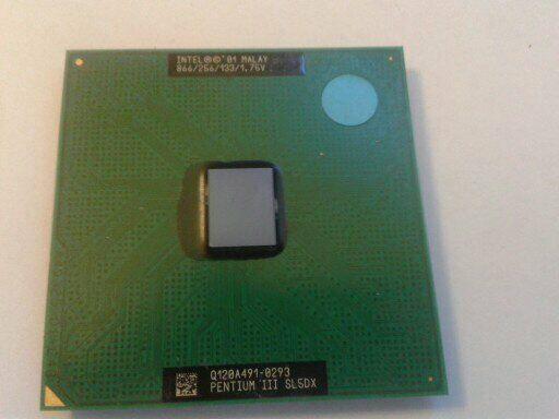 INTEL PENTIUM 111-866 CPU 866/256/133. 1.75V. SL5DX. IN GOOD CONDITION.