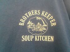 Brothers Keeper Soup Kitchen men's t shirt XXL distressed blue