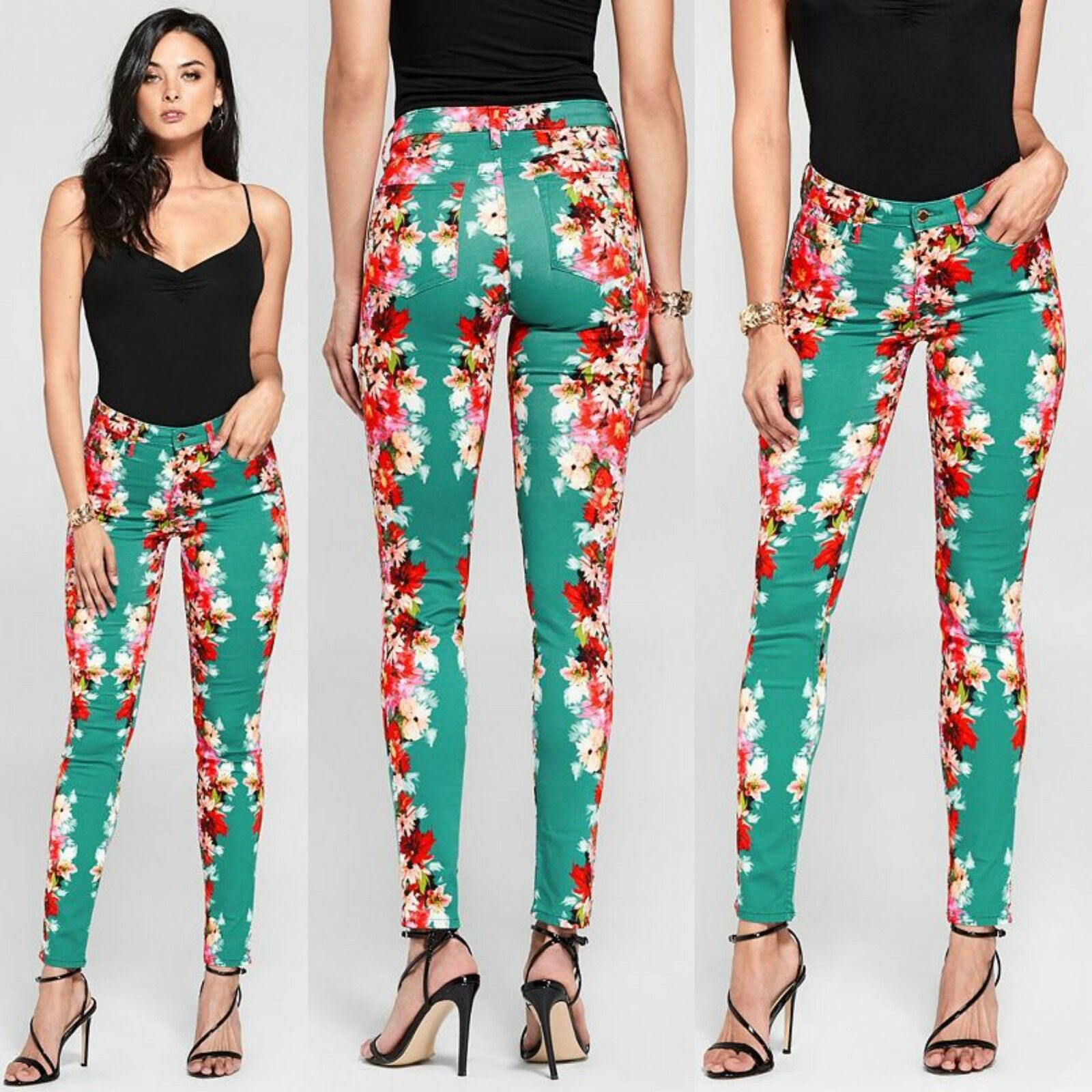 GUESS BY MARCIANO PALMS BEACH MID RISE PANTS