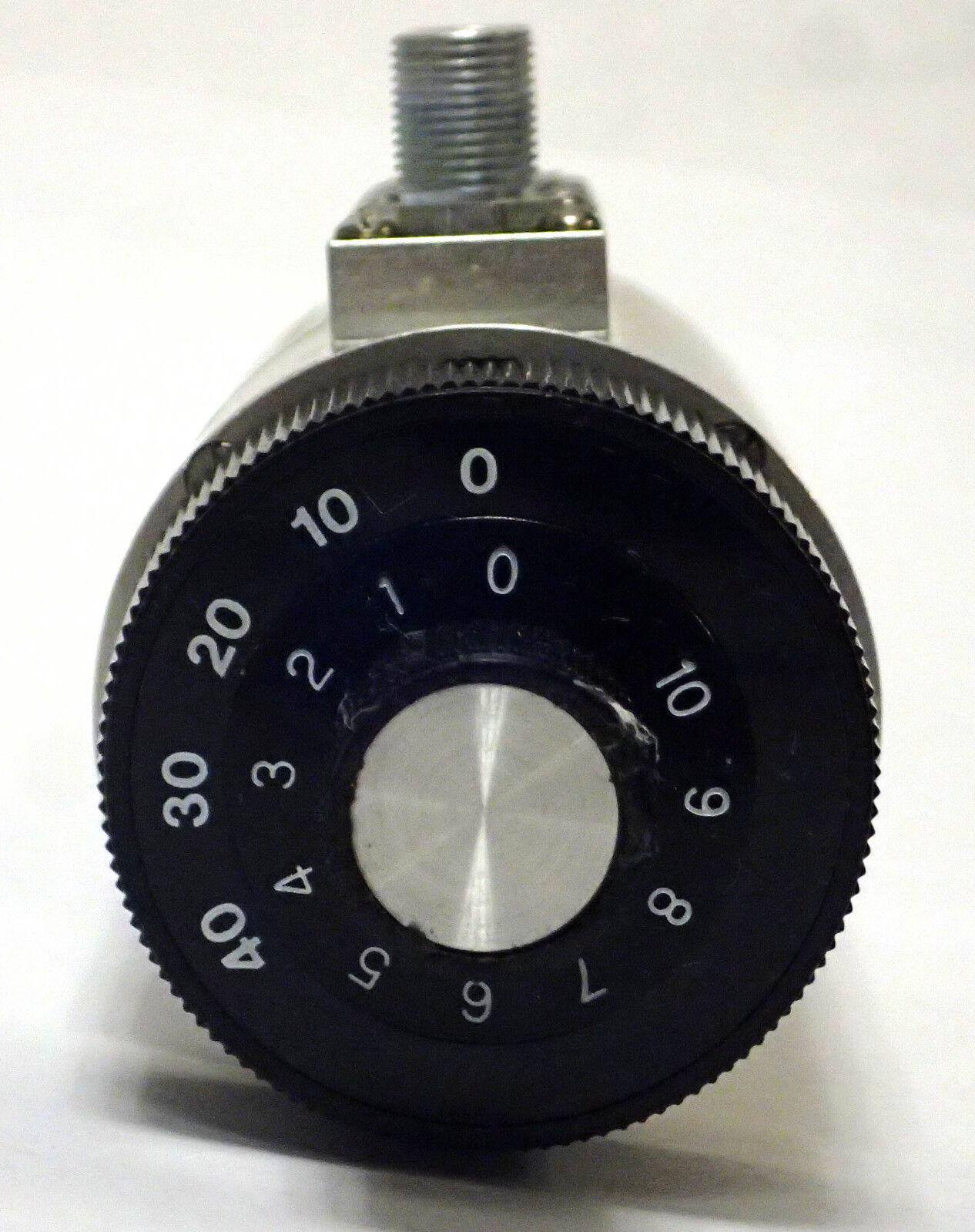 Jfw Ind 75DR-002 Doble Giratorio Atenuador Atenuador Atenuador variable 75OHM 10dB 0-500MHz 1W Tipo F 4c11a8