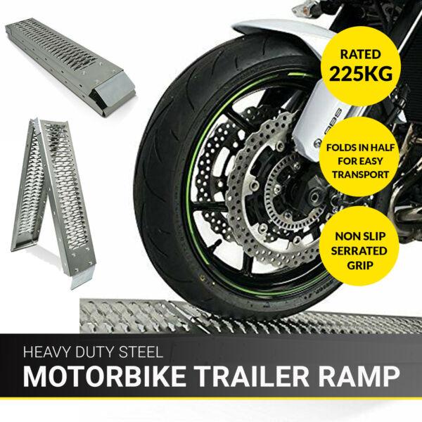 Dapper 1.8m Bike Folding Steel Motorcycle Ramp Loading Motorbike Van/truck Lawn Mower