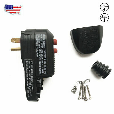 OAONAN GFCI Replacement Plug Assembly 3-Prongs with Ground Fault Circuit