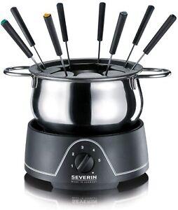 Severin Fonduta in acciaio inox Elettrico Set 1.25L 800W Nero Cook Home Kitche