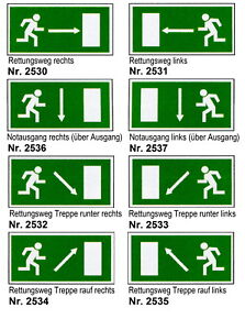 Business & Industrie Sammlung Hier Fluchtweg-schild-notausgang-300 X 150 Mm-feuer-brand-warnschild-hinweisschild
