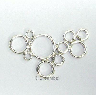 Sterling SILVER Center Piece LINK CONECTOR BEAD 32mm