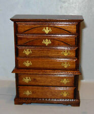 MUSEUM PINE CHEST ON CHEST  DOLLHOUSE FURNITURE MINIATURES