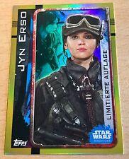 Topps Star Wars ROGUE ONE Limitierte Auflage LESA Jyn Erso